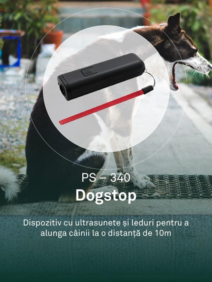 Dispozitiv cu ultrasunete pentru alungarea cainilor.